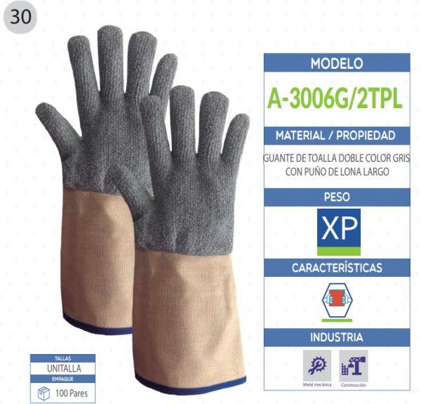 guantes de toalla doble seguridad industrial