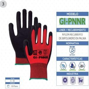 Guante de Nylon con recubrimiento de poliuretano en palma de seguridad industrial