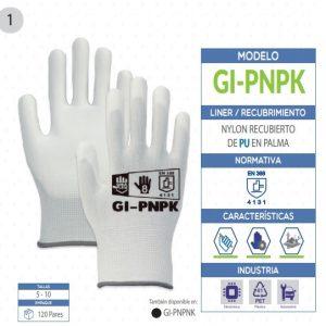 Guante de nylon con poliuretano en palma de seguridad industrial
