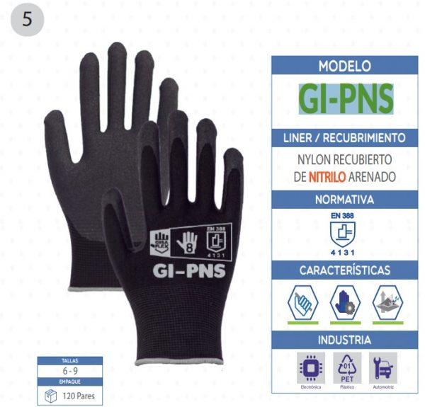 Guante de Nylon con recubrimiento de Nitrylo arenado de seguridad industrial