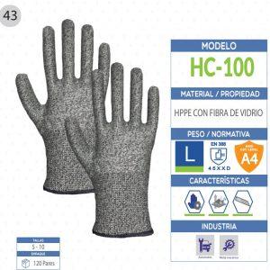 Guante de Polietileno de alto rendimiento con fibra de vidrio de seguridad industrial