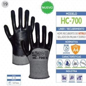 Guante de Polietileno de alta densidad recubierto de Nitrilo sellado en palma y dorso de seguridad industrial