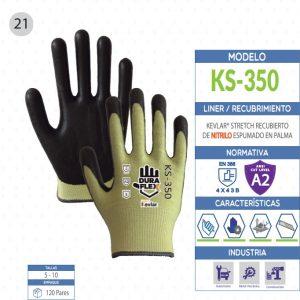 Guante KEVLAR® Stetch recubierto de Nitrilo espumado en palma de seguridad industrial