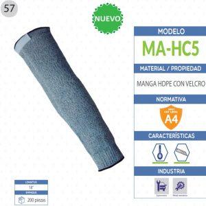 Manga de Polietileno de alta densidad con velcro de seguridad industrial