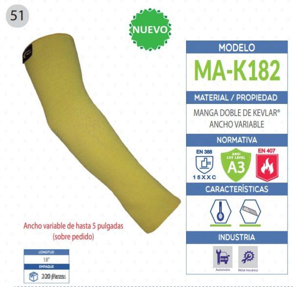 Manga doble de KEVLAR® ancho variable de seguridad industrial